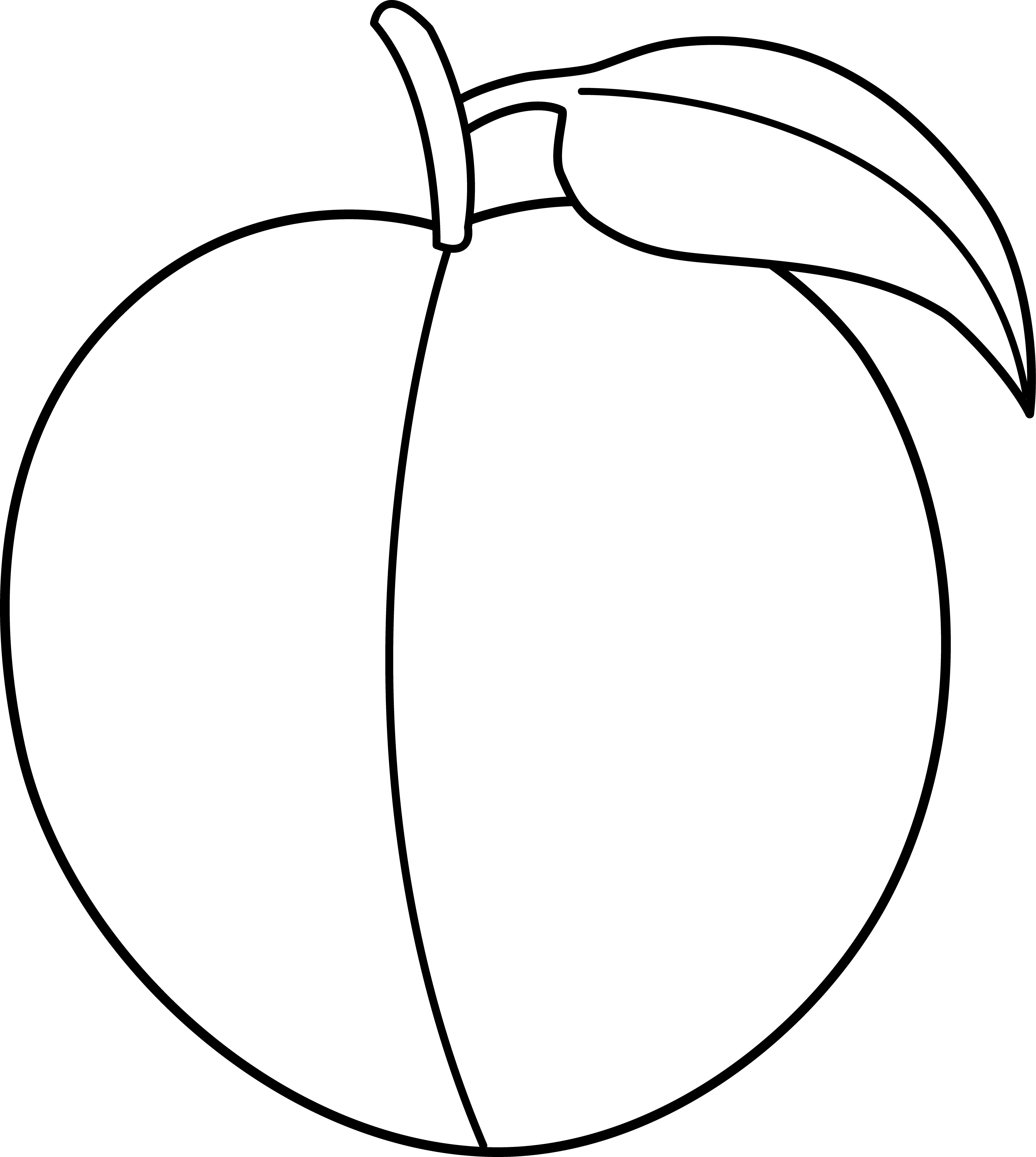 peach clipart black and white clipart panda free clipart images