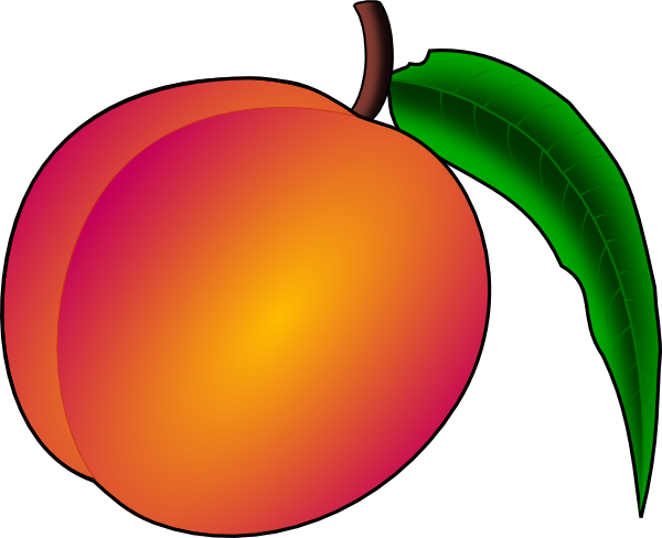 Peach Clipart | Clipart Panda - Free Clipart Images