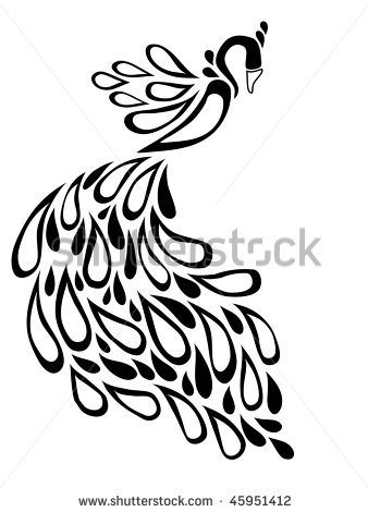 Peacock Black And White Clipart Panda Free Clipart Images