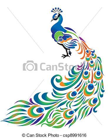 صور الطاوس فلاشية  Peacock-clipart-can-stock-photo_csp8991616