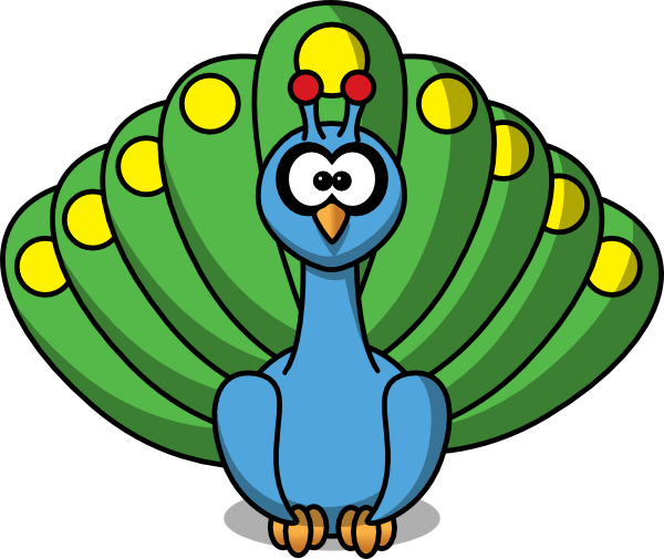 Peacock Clipart Black And White | Clipart Panda - Free Clipart Images