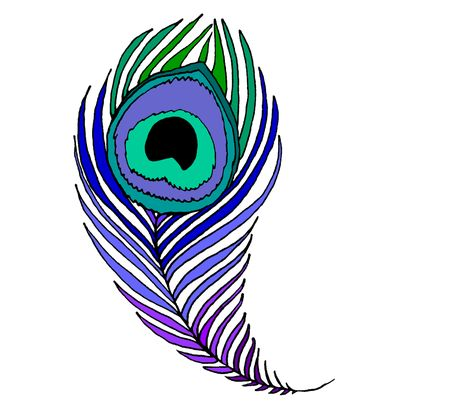 - Peacock Feather Coloring Page Clipart Panda - Free Clipart Images