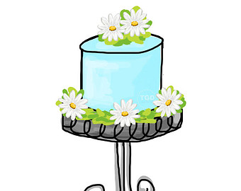 Free Clipart Cake Stand