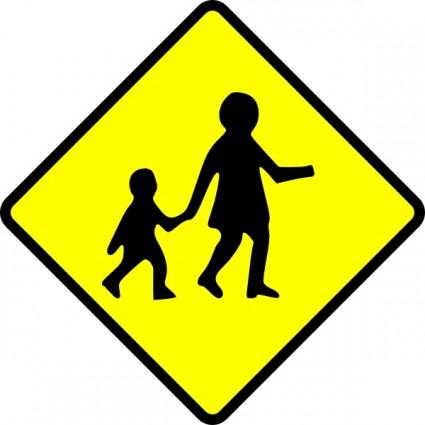 Crossing Caution clip art