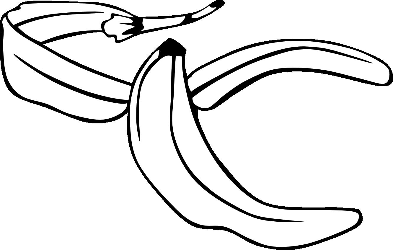 Banana Clip Art Black And White peel 20clipart