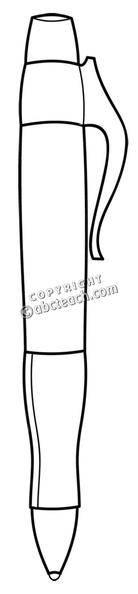 Pen Clip Art Black And White