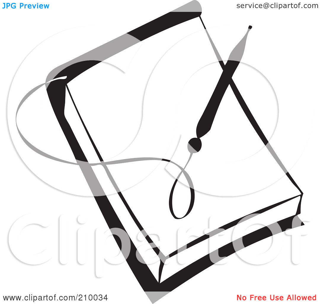 pencil and paper clip art black and white | clipart panda - free