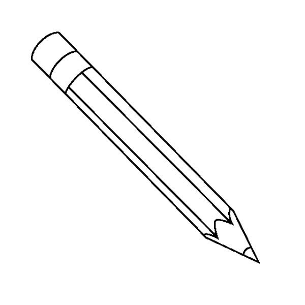 Pencil Coloring Page | Clipart Panda - Free Clipart Images