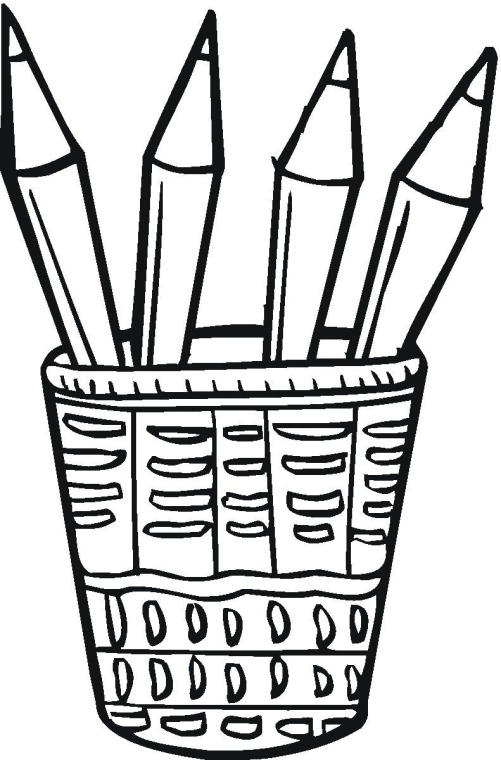 Pencils Coloring Page Clipart Panda Free Clipart Images