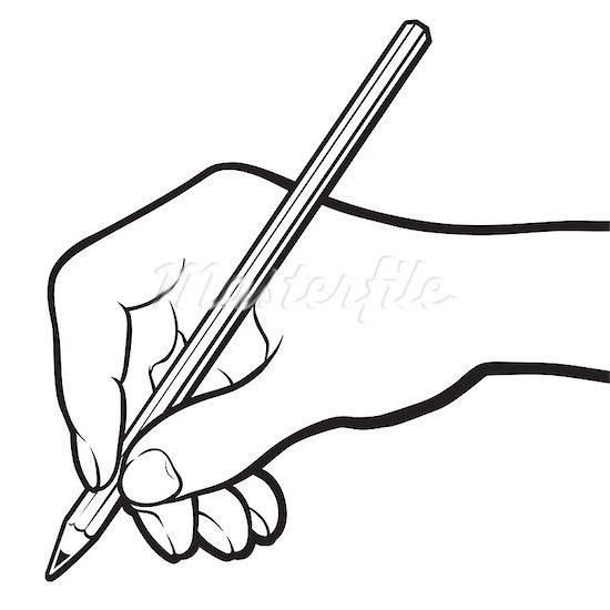 pencil writing clip art black and white clipart panda