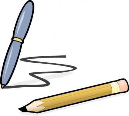 Wonderful Pencil Writing Clip Art