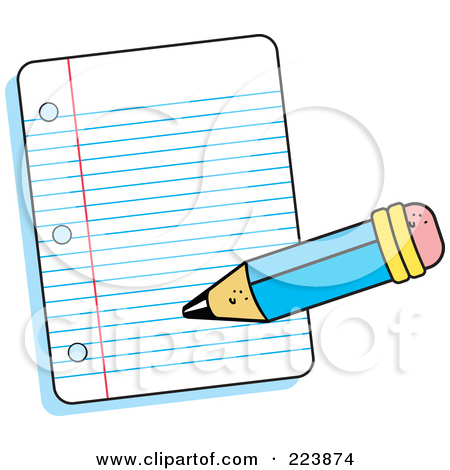 Lined Notebook Paper Clipart  Sample Essay Using Apa Format