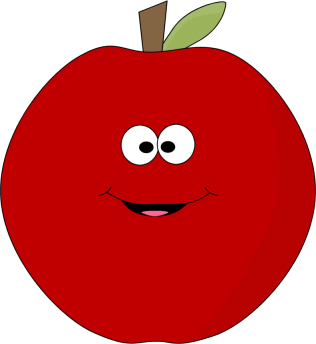 Apple happy. On clip art clipart