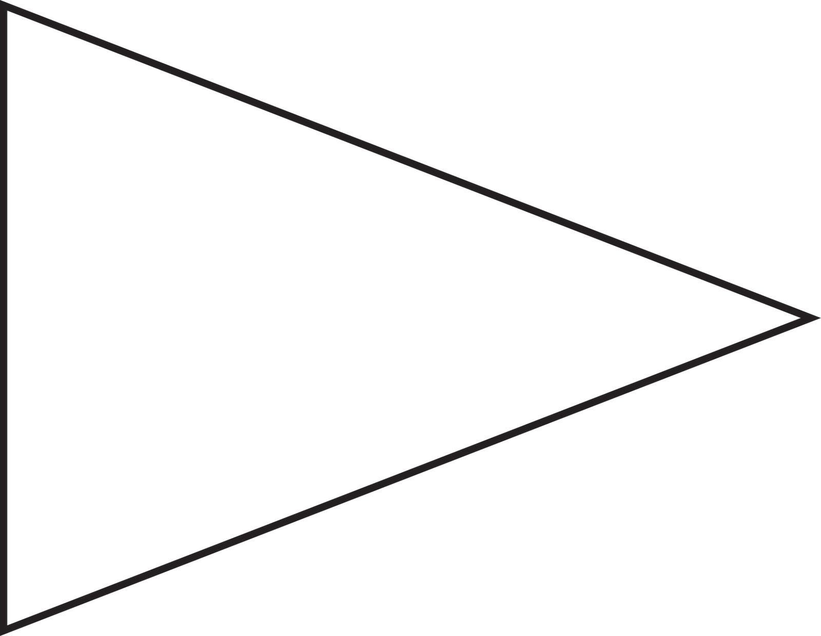 Triangle flag banner template maxwellsz