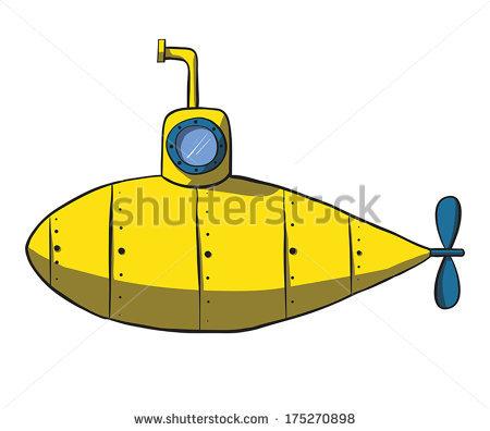 желтая подводная лодка рисунок