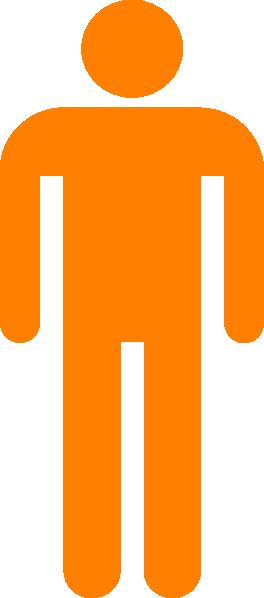 Person orange. Man silhouette clip art