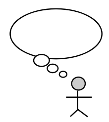 person thinking with thought bubble clipart panda free clipart