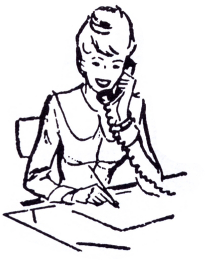 go back gallery for secretary clipart black and white