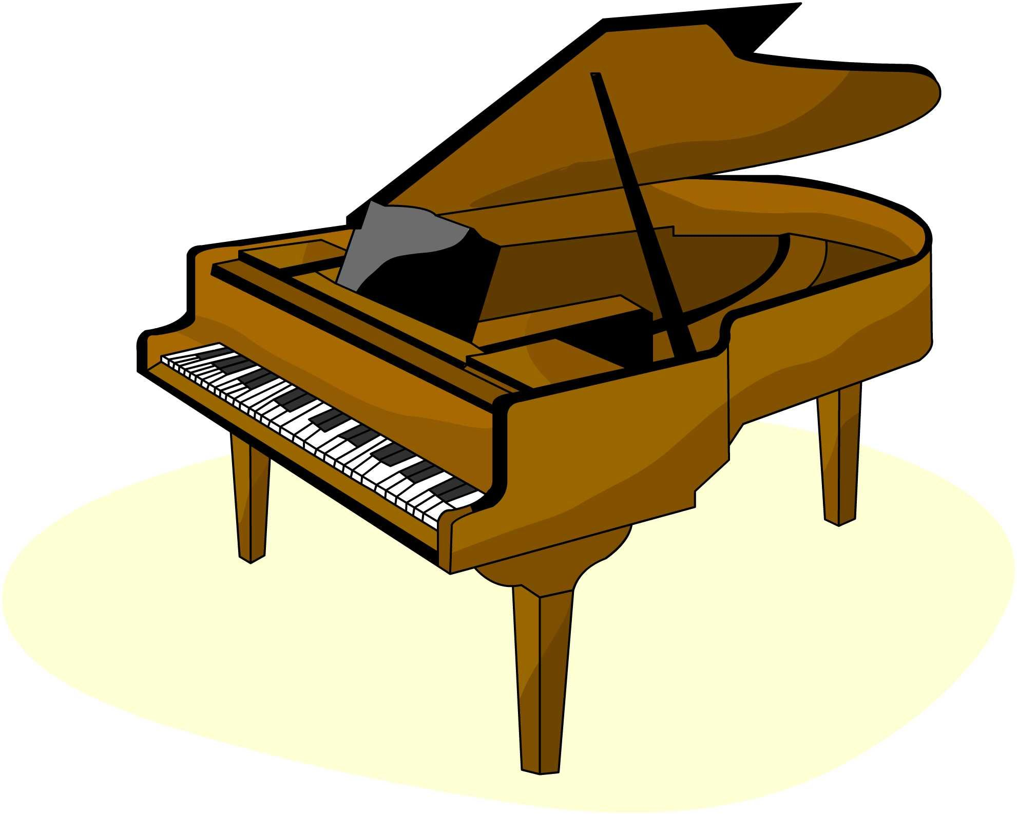 Piano Clipart Black And White | Clipart Panda - Free ...