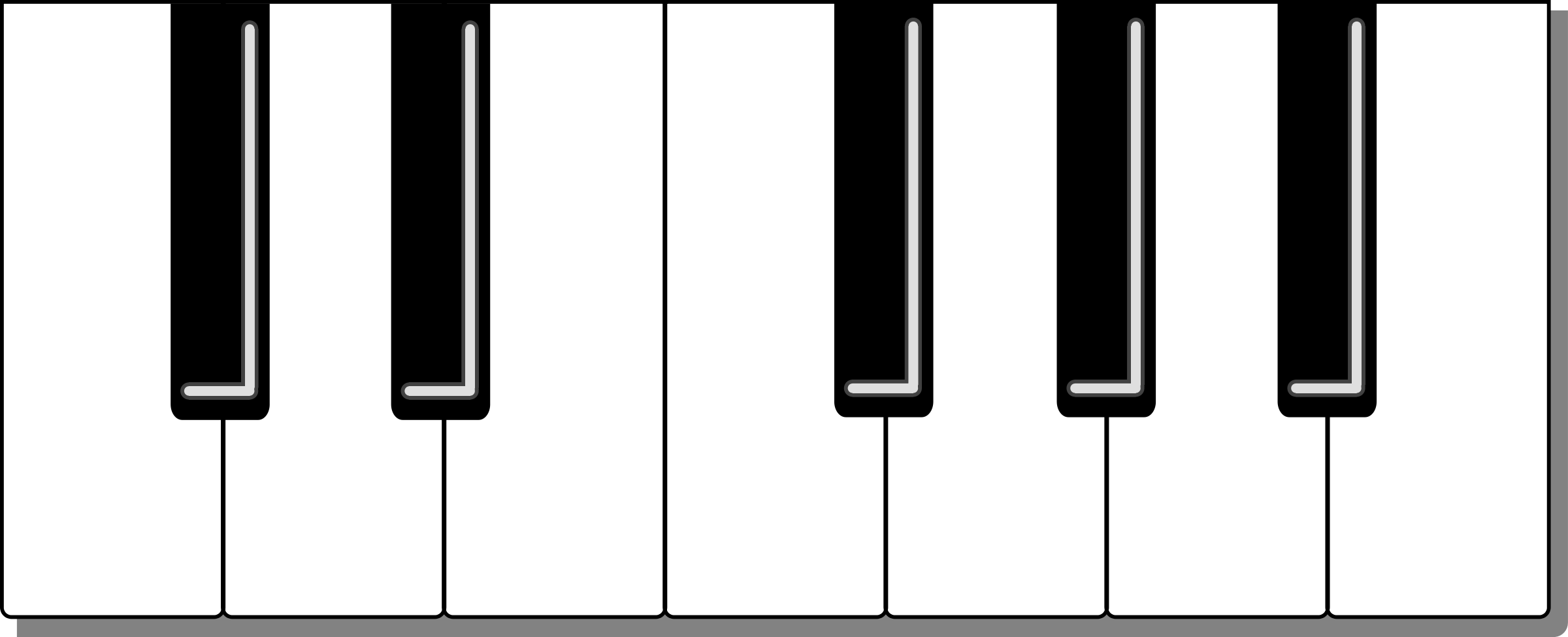 Piano Keyboard Clipart | Clipart Panda - Free Clipart Images