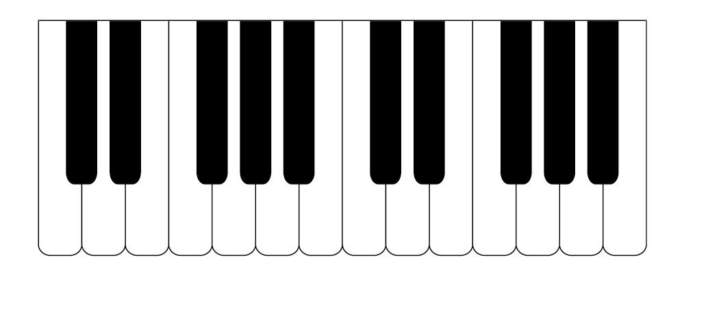 Clip Art Piano Keyboard Clipart piano keyboard clipart panda free images