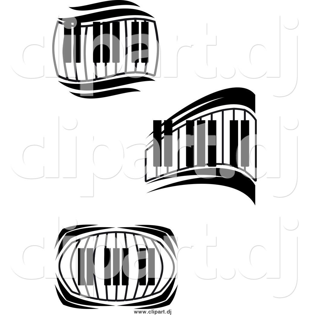 piano keyboard clipart black and white clipart panda free rh clipartpanda com  computer keyboard clipart black and white