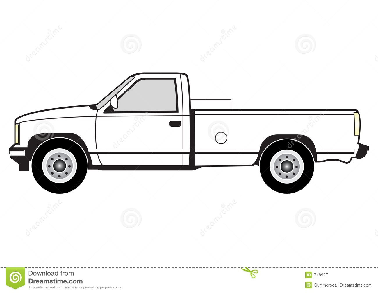 Line Art Truck : Line art pick up clipart panda free images