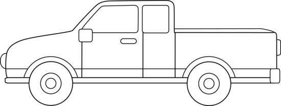 Pickup Truck Outline Clipart | Clipart Panda - Free ...