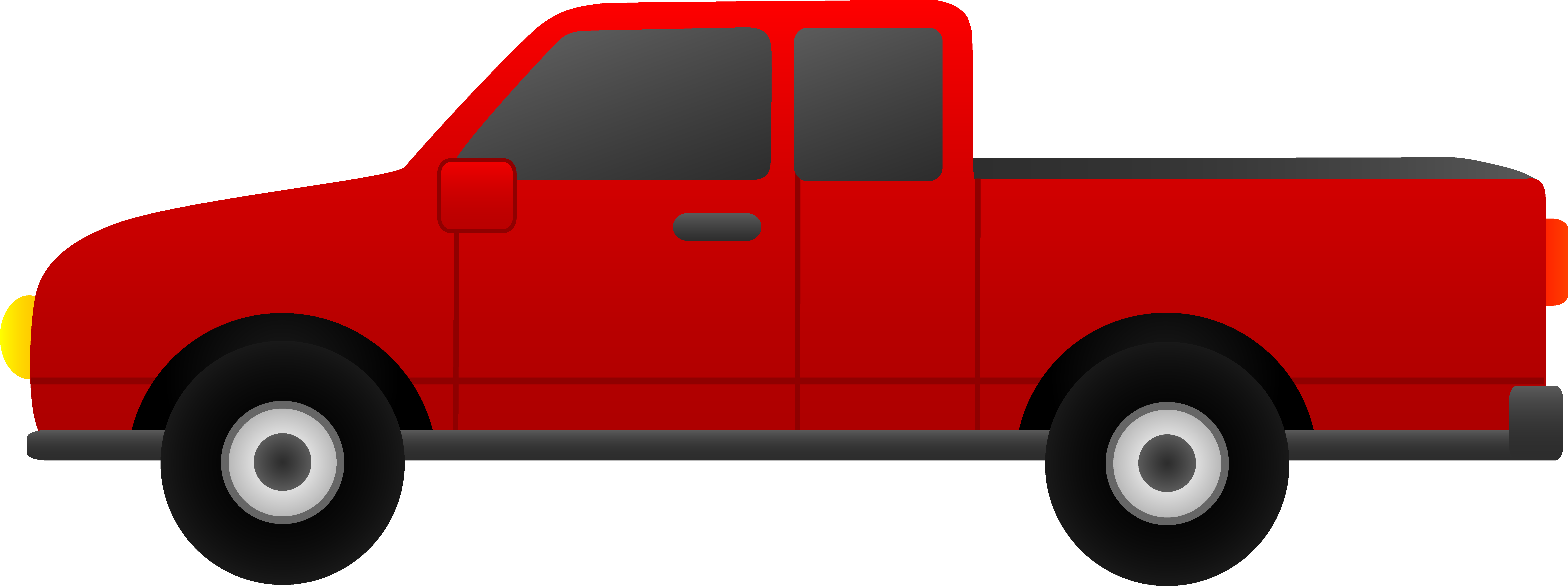 Pick Up Truck Clip Art Back