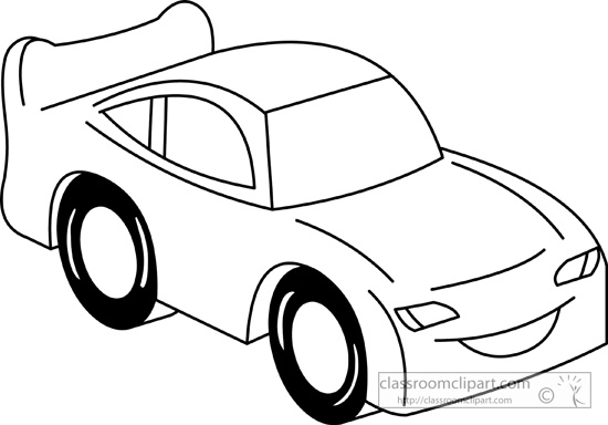 pickup 20truck 20clipart   Race Car Clipart Black And White