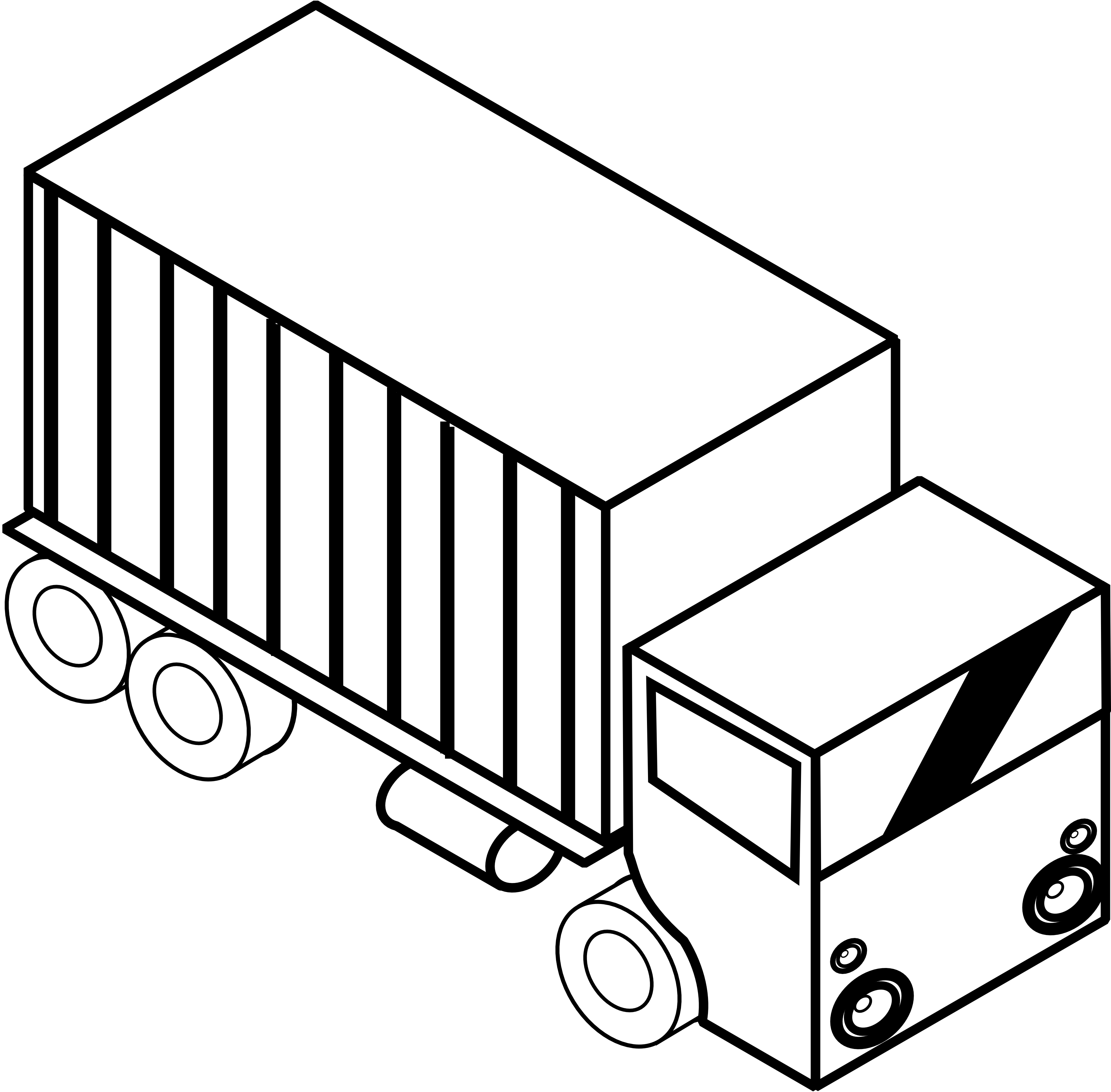 Pickup Truck Clipart Black And White