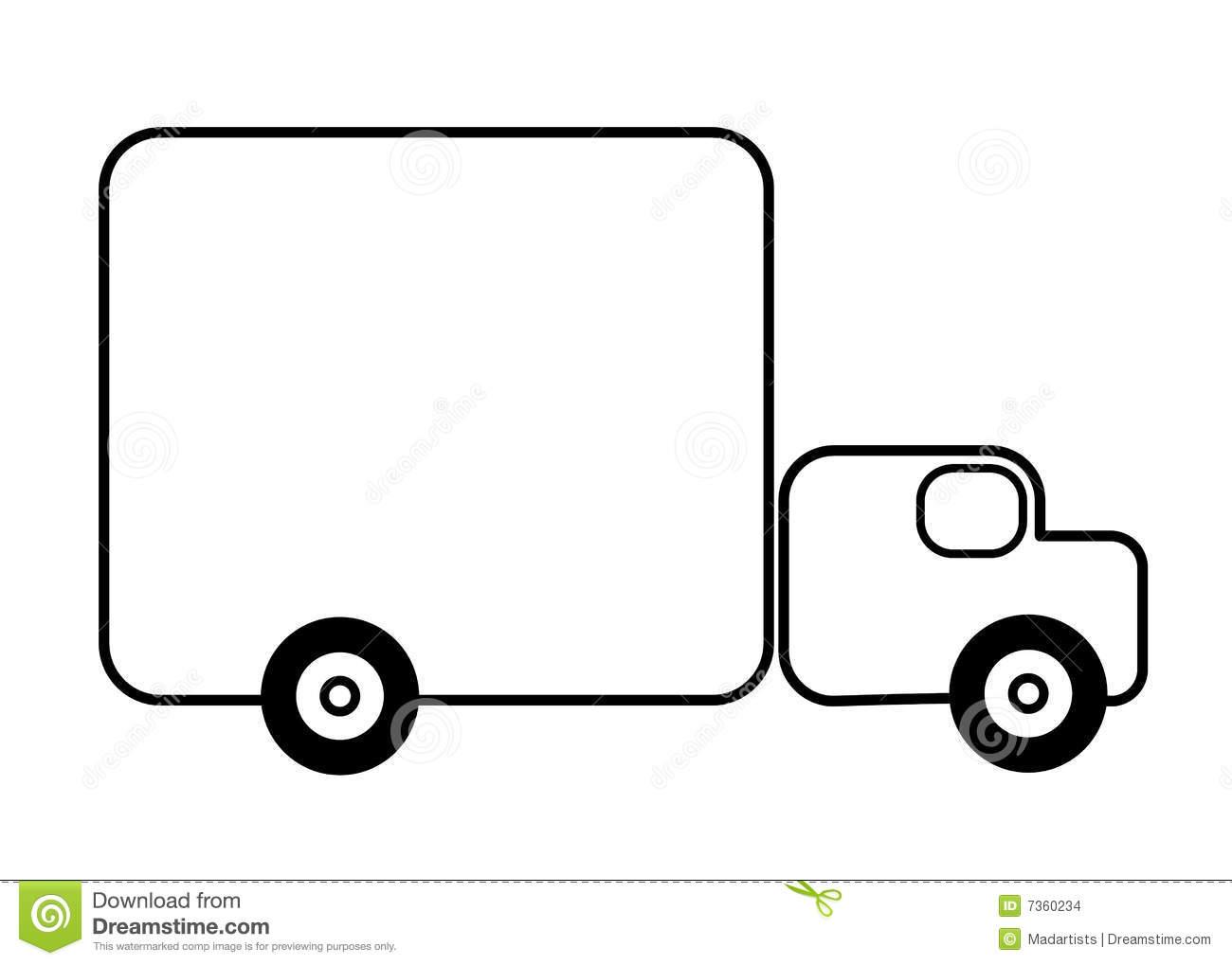 Line Drawing Truck : Truck line art background clipart panda free