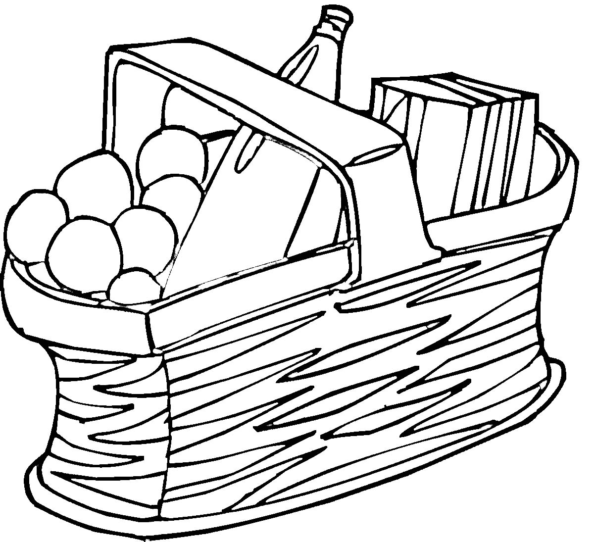 Basket Clip Art Black And White : Picnic clip art black and white clipart panda free