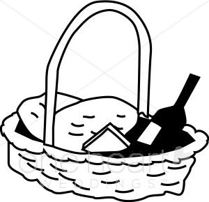 Clip Art Picnic Basket Clip Art picnic basket clip art black and white clipart panda free