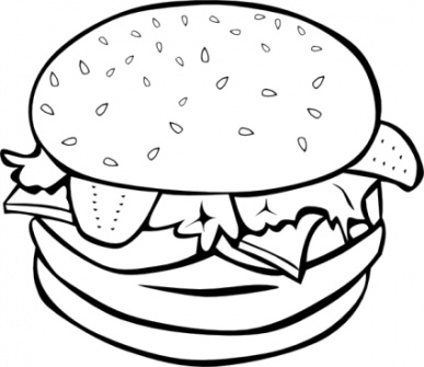 Picnic Food Clip Art Black And White | Clipart Panda - Free ...