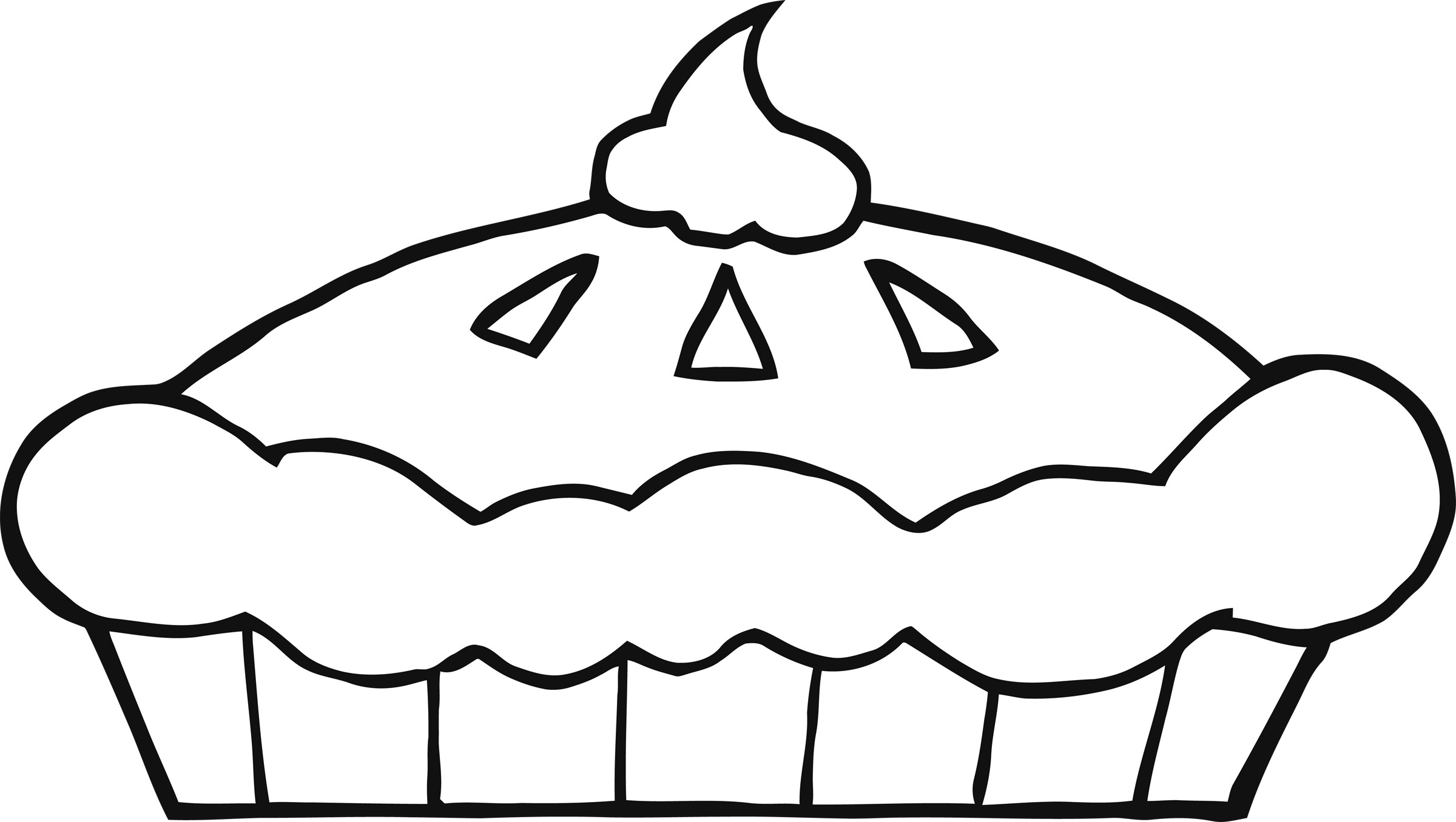 Pie Clip Art Black And White | Clipart Panda - Free ...