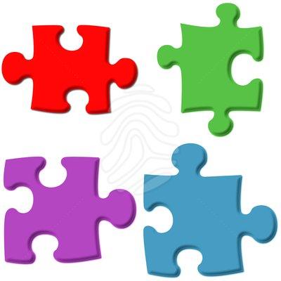 Clip Art 3D Puzzle Pieces
