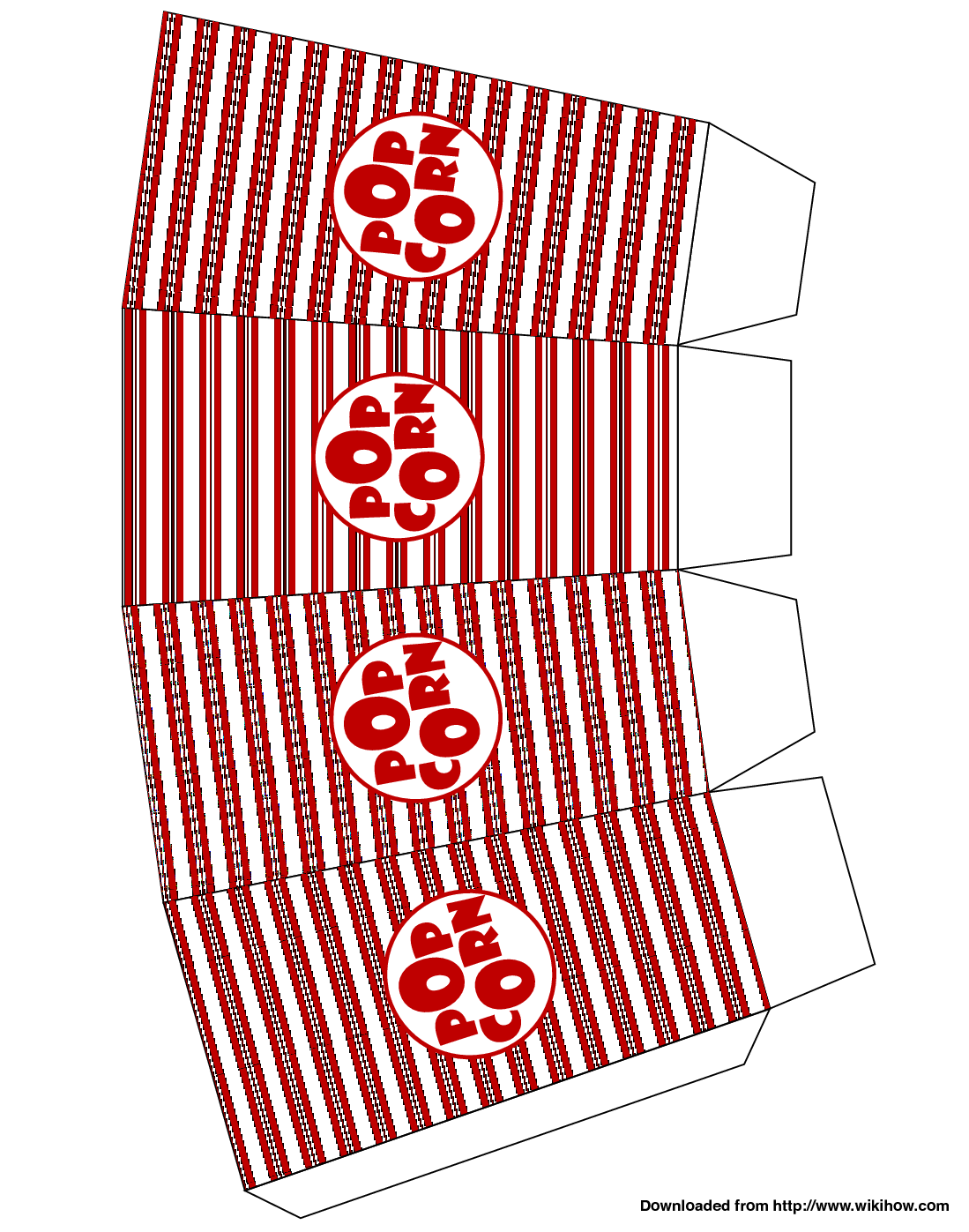 photograph regarding Printable Popcorn Template named Printable Popcorn Box Template Clipart Panda - Cost-free