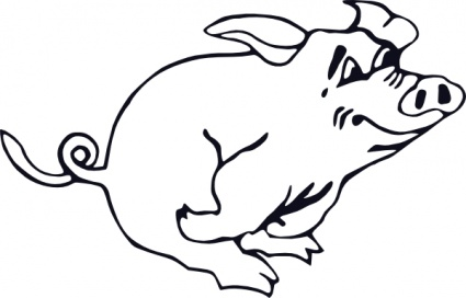 Pig Clipart Black And White   Clipart Panda - Free Clipart ...