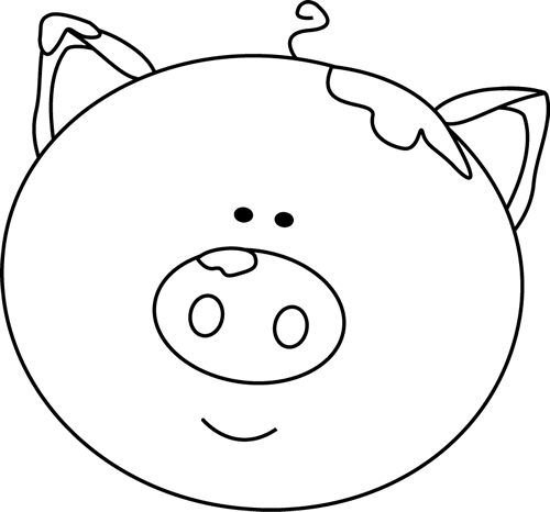 pig%20clipart%20black%20and%20white