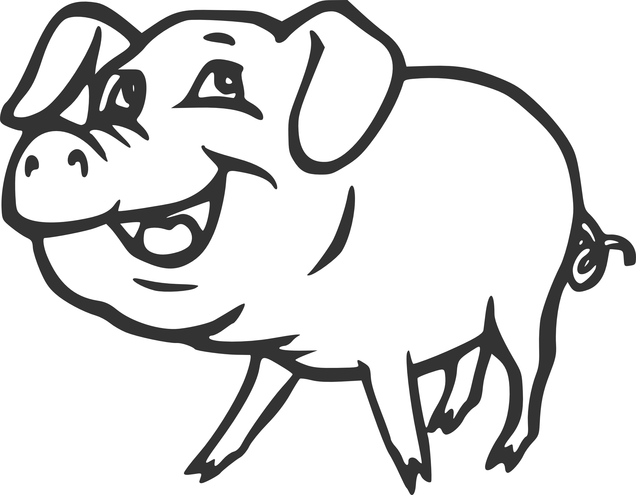 Line Drawing Of A Pig Face : Pig clipart black and white panda free