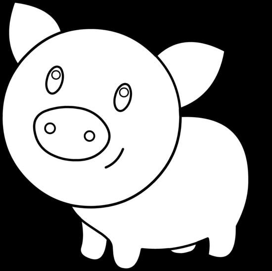 Pig Face Coloring Cute Pig Face Clip Art...