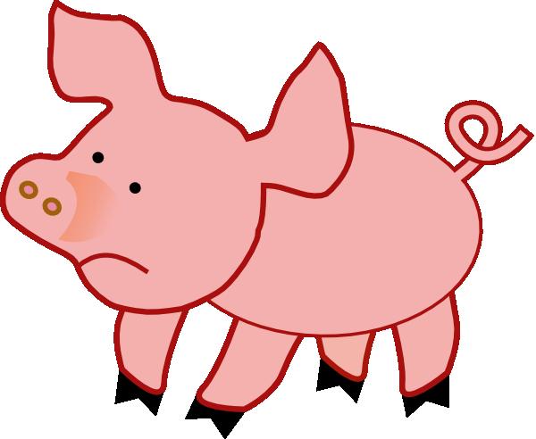 small pig unhappy clip art clipart panda free clipart images rh clipartpanda com free clipart of pigs free clipart of cartoon pigs