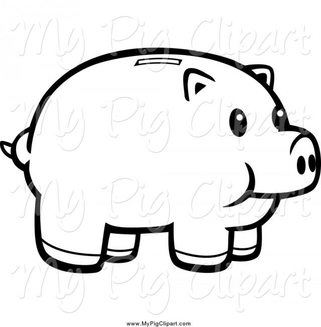 Piggy Bank Clip Art Black And White Clipart Panda Free Clipart