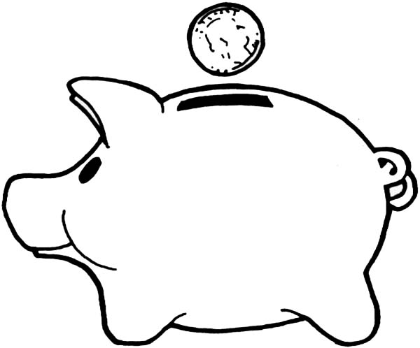 Line Drawing Piggy Bank : Cute piggy bank clipart panda free images