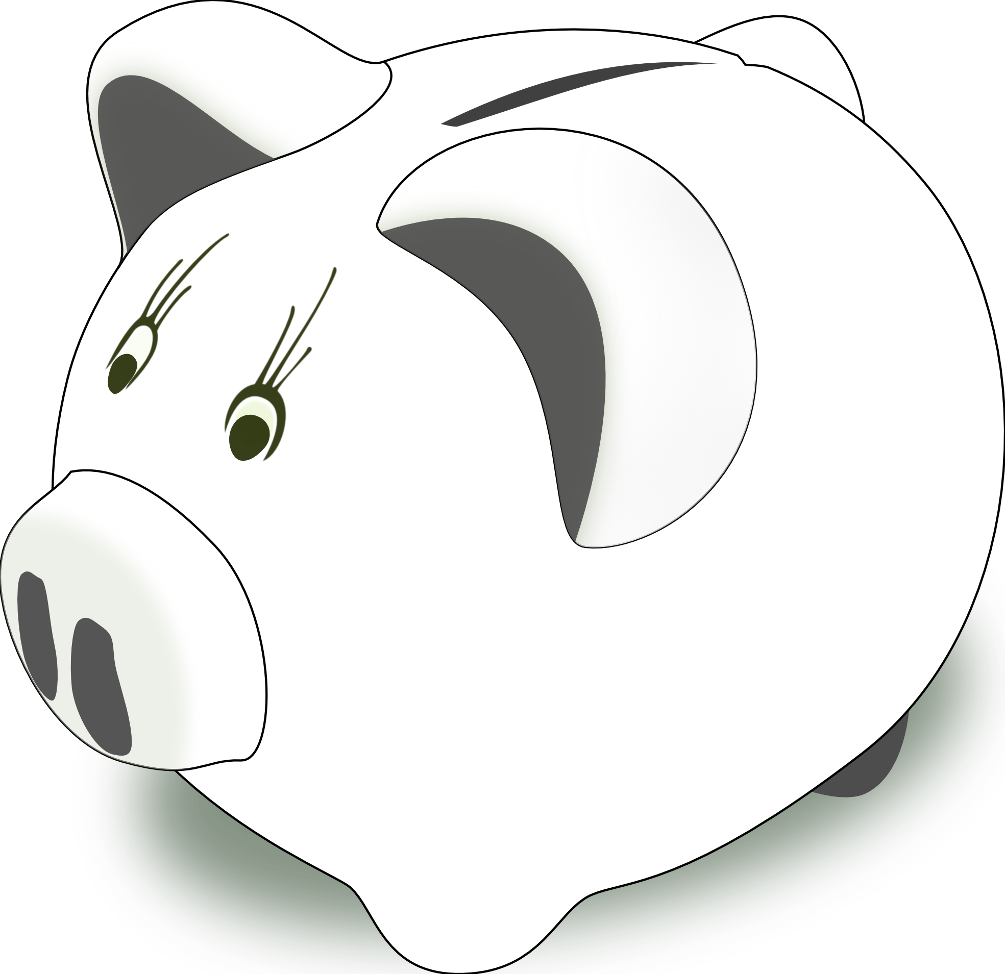 Line Drawing Piggy Bank : Piggybank pink black white clipart panda free