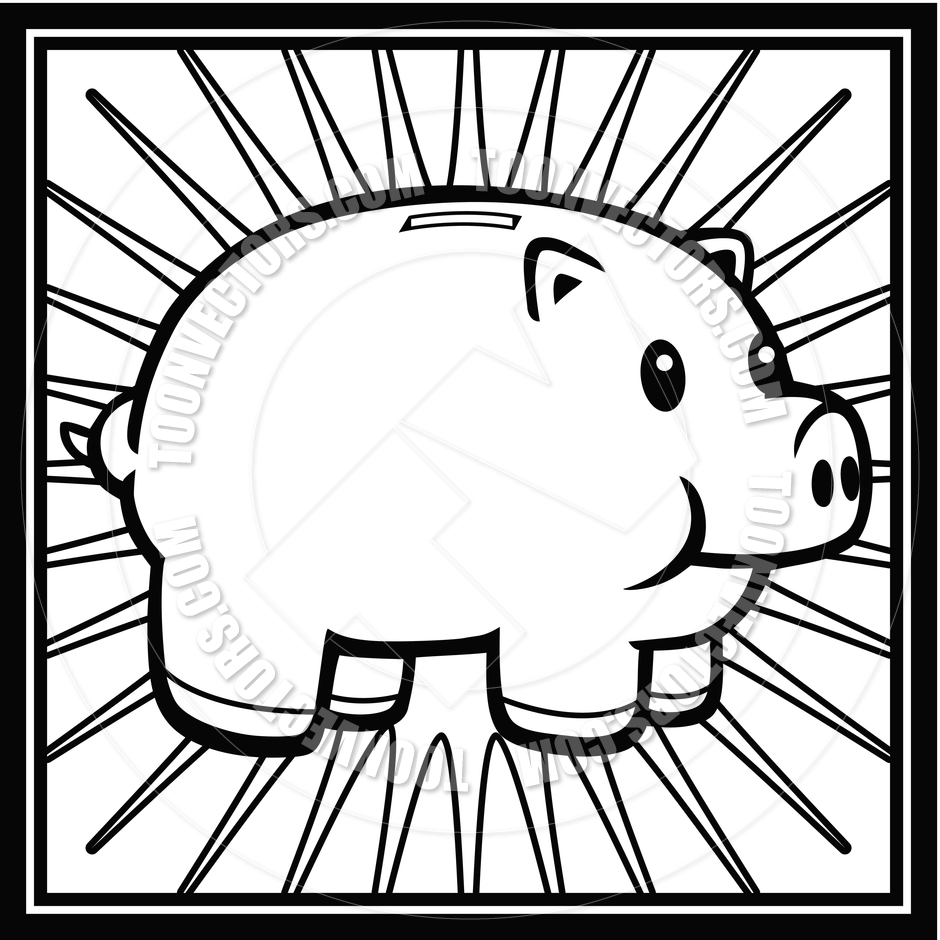 Line Drawing Piggy Bank : Piggy bank clipart black and white panda free