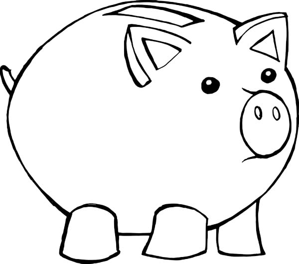piggy bank coloring page piggy bank coloring coloring pages