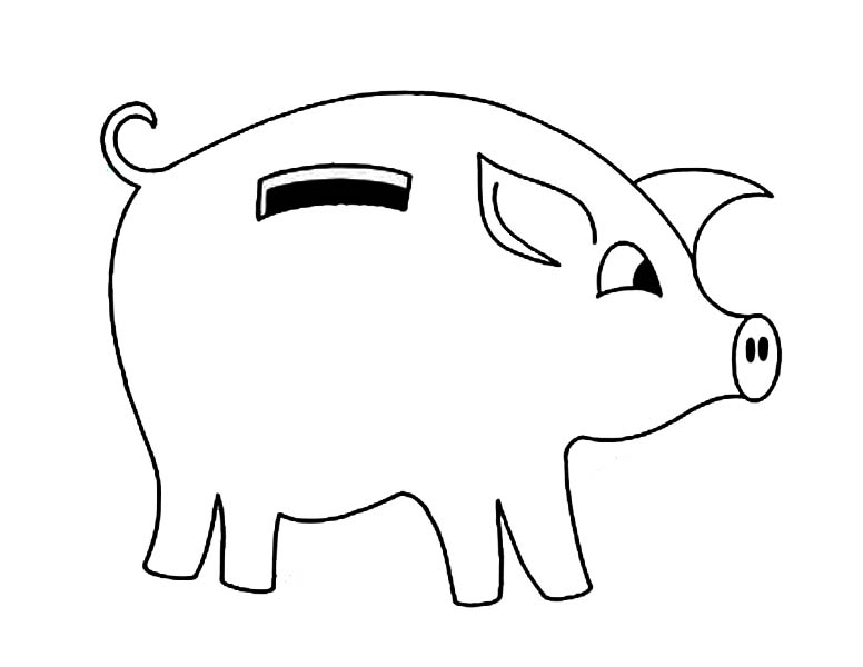 money box coloring pages-#6