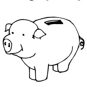 Money piggy bank coloring pages sketch coloring page for Piggy bank coloring page